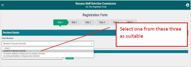 haryana cet one time registration form